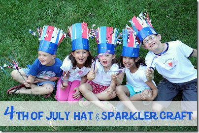 I like these hats--would be fun for all the kids in the bike parade to make one.  Also some great game ideas here!