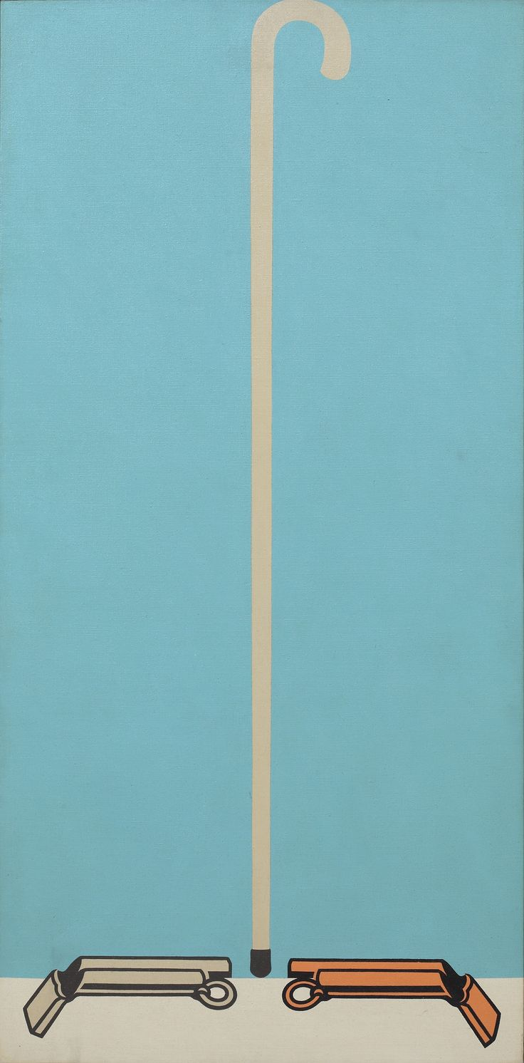 Passage d'Hervé Télémaque (1970, acrylique sur toile, 120x60 cm)