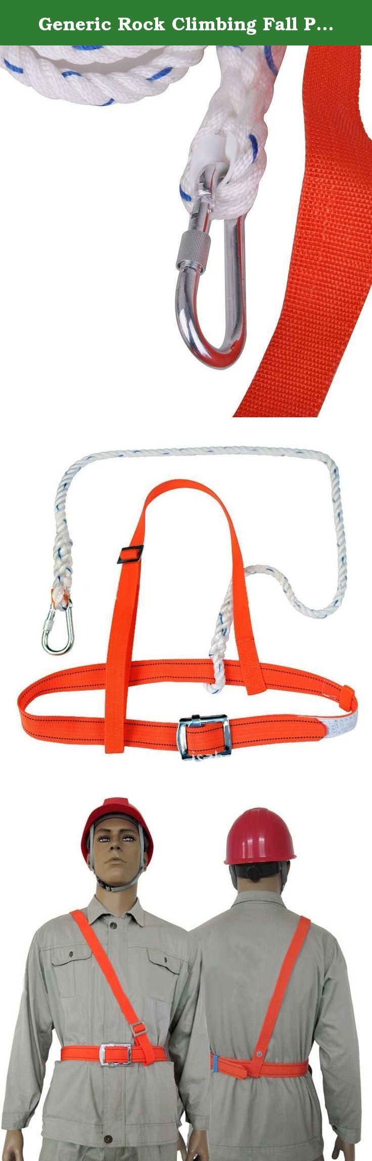 Generic Rock Climbing Fall Protection Harness & Safety