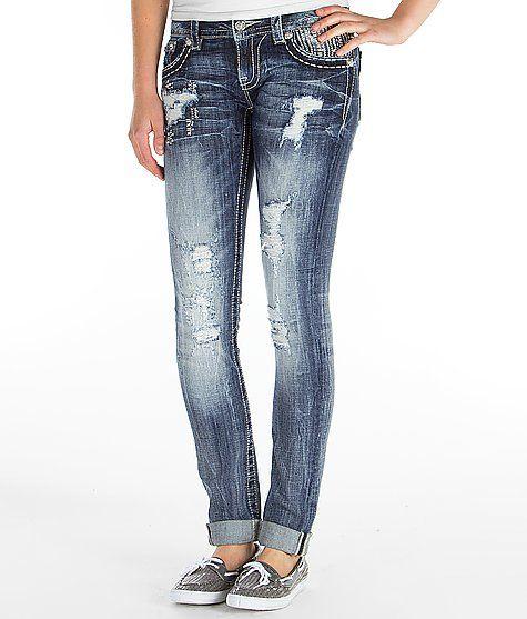 """Miss Me Cuffed Skinny Stretch Jean"" www.buckle.com"