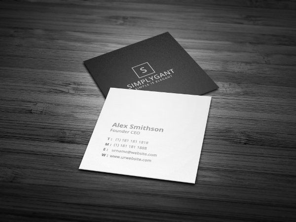 Square Business Card Template Elegant 22 Square Business Cards Free Psd Eps Illustrator Square Business Cards Square Business Card Free Business Card Templates
