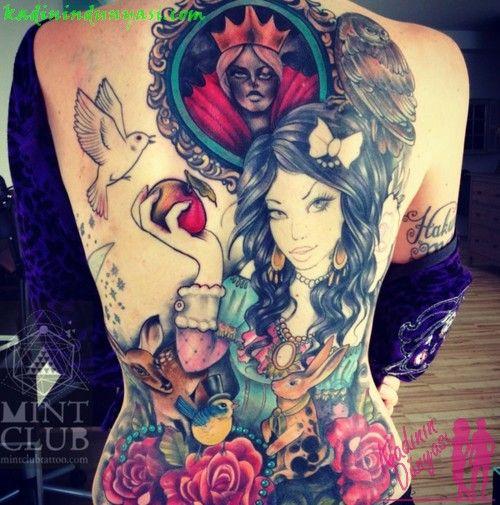 back tattoo | Kadın Dövme Modelleri, Kadınsı Dövmeler