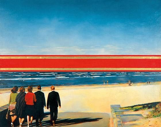 Bulatov Horizon. 1971/1972 canvas. 150 x 180. Source: afisha.ru