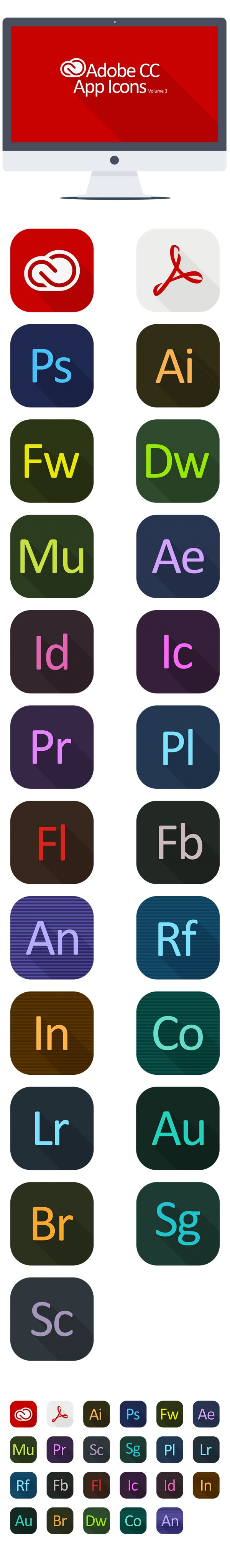 Adobe CC  Icons Volume 3 by KPL Designs , via Behance