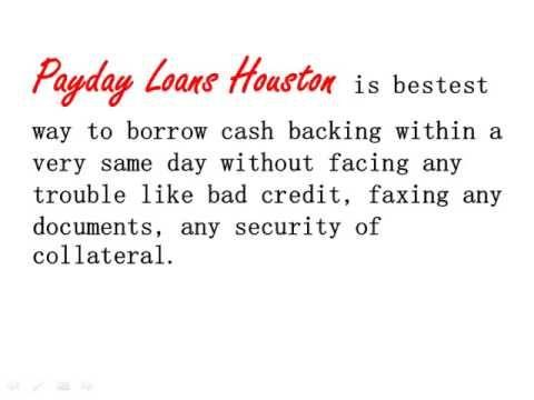 Guaranteed same day payday loan