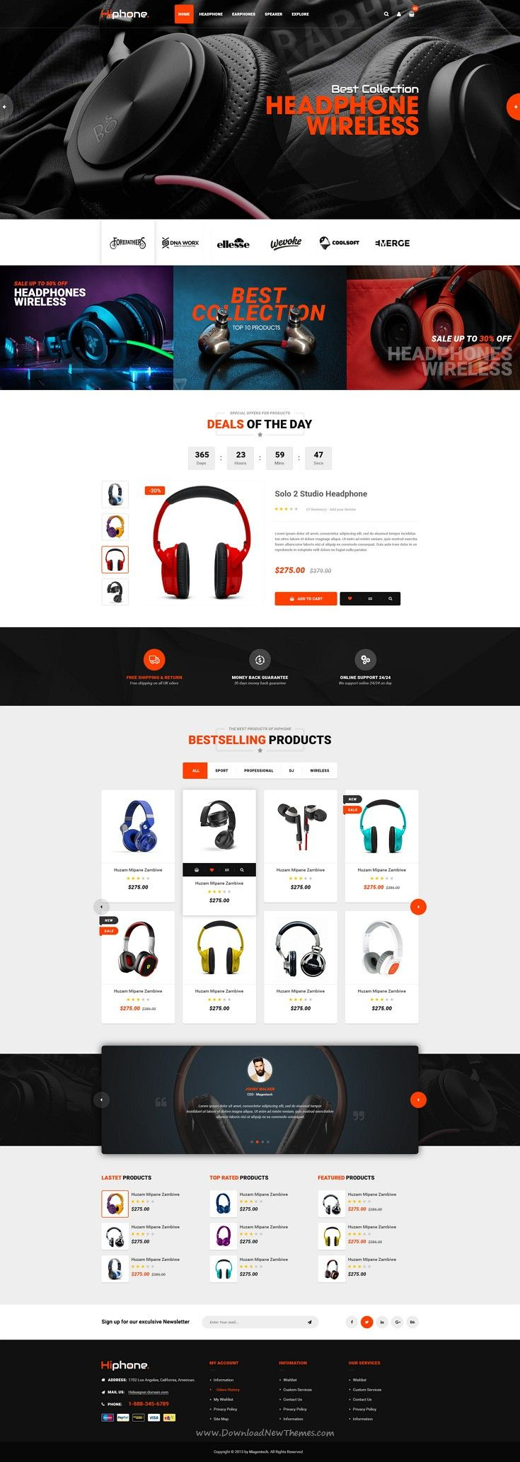 HiPhone is perfect PSD Template for any types of eCommerce websites from simple to complex projects. Download Now!