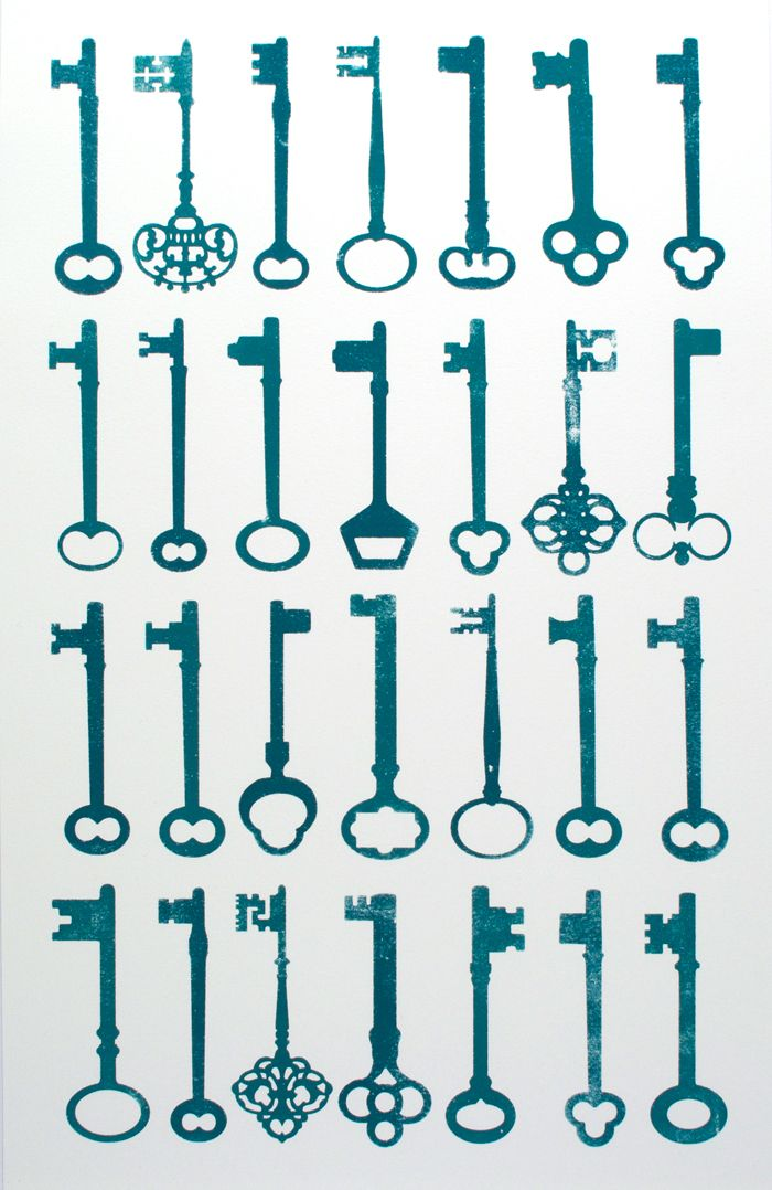 Skeleton Key Screenprint. | Graphic Design | Pinterest