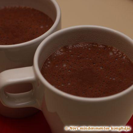 Levendulás forró csokoládé (cukormentes, tejmentes)