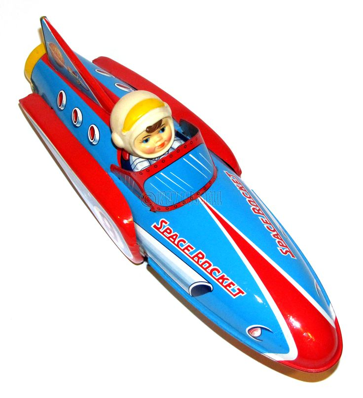 Space Rocket Tin Toy | Vintage and Retro Space Age Raygun ...