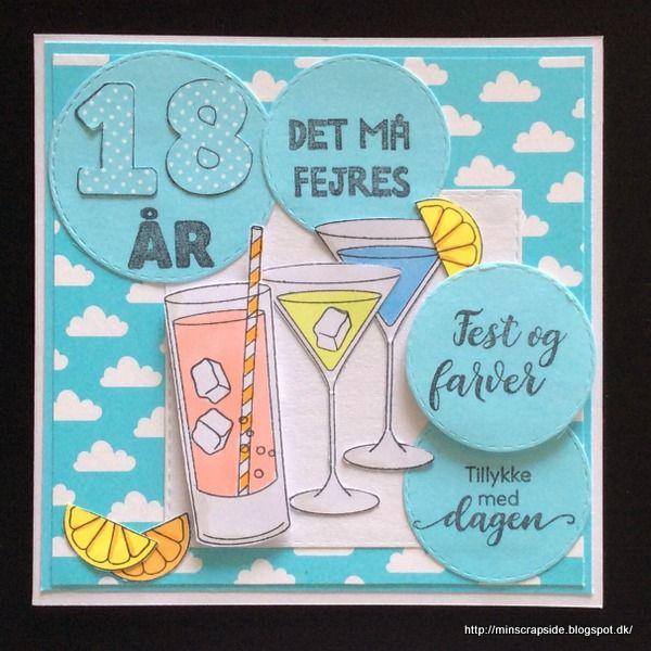 Fødselsdagskort 18 års Helles kort: