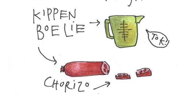 Kabeljauw met kikkererwten. Recept van Yvette van Boven. Lekker en makkelijk.