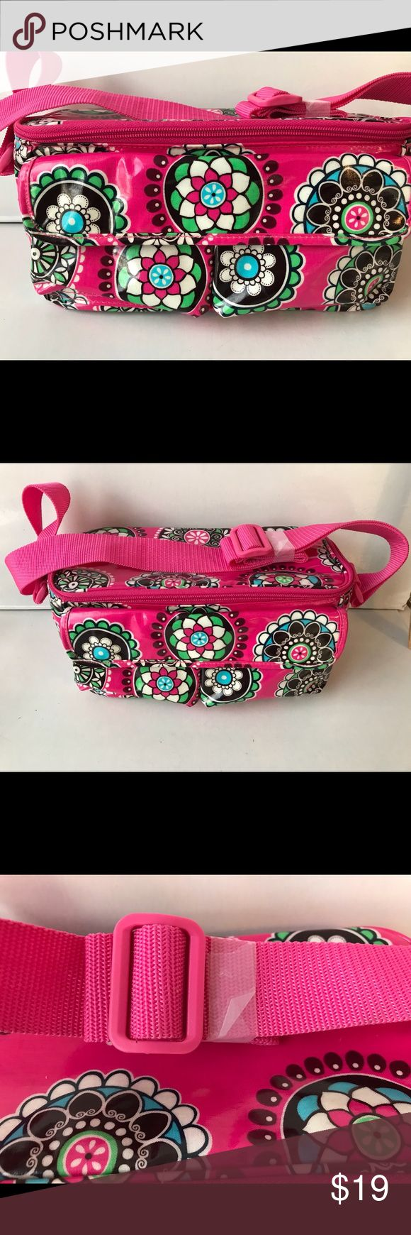 Travel in style Hot Pink Print Cooler Lunch Tote Vera Bradley Insulated Lunch Bag Tote Cooler Retire Cupcakes Pink Pattern Vinyl B8013 Bew without tags Vera Bradley Bags Travel Bags