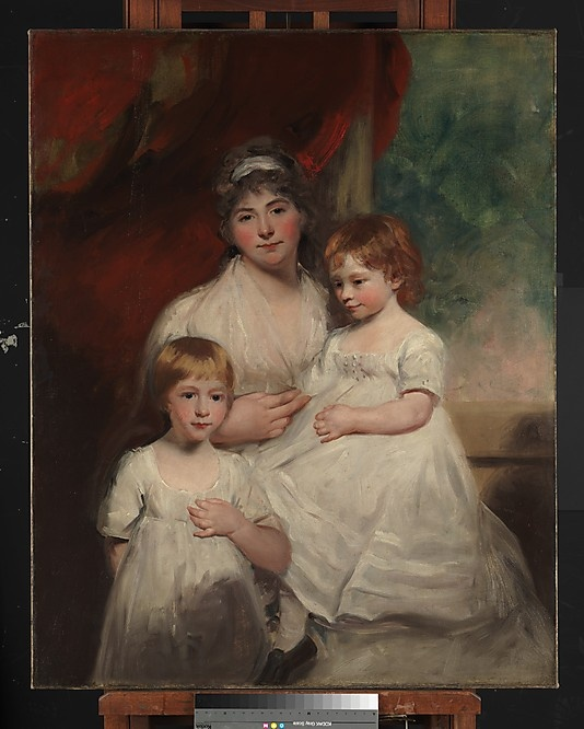 Mrs. John Garden (Ann Garden, 1769–1842) and Her Children, John (1796–1854) and Ann Margaret (born 1793)  John Hoppner  (English, London 1758–1810 London):