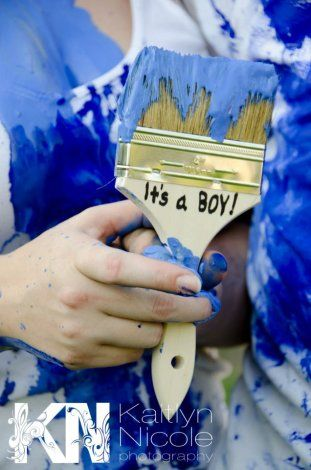 Paint fight gender reveals #babycenterblog