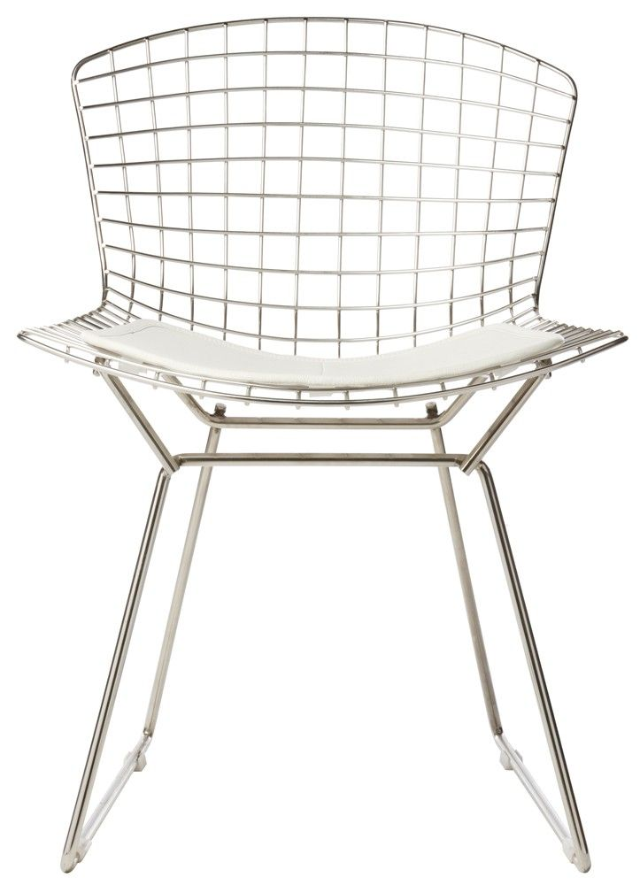Captivating Harry Bertoia Side Chair Replica; Pair With Rustic Heavy Plank Table @  Crystal Beach.