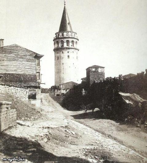 Galata Kulesi ve çevresi-1850 ler...