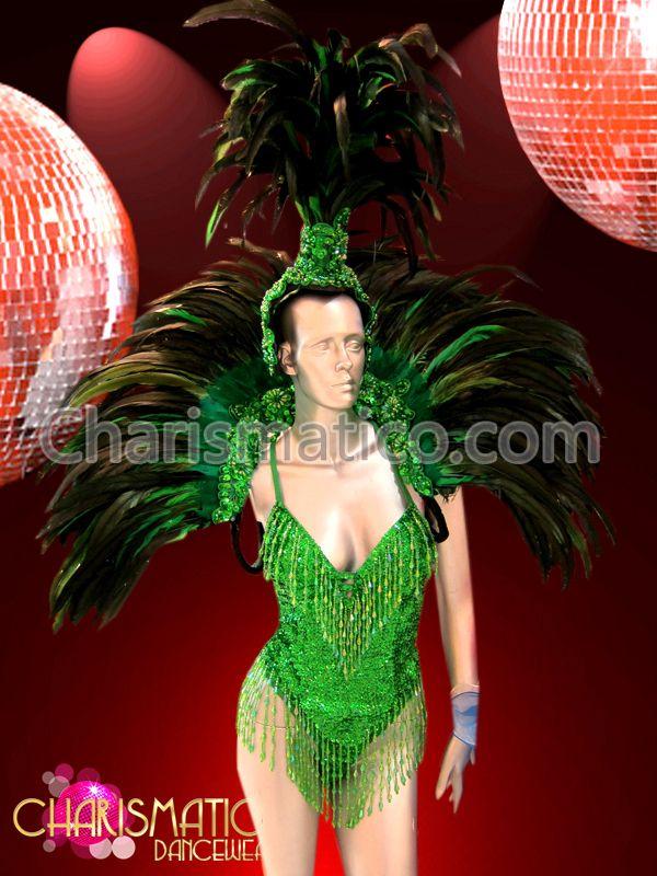 Charismatico Dancewear Store - CHARISMATICO Three Piece Green Leotard, Collar and Headdress Brazil Samba Costume, $280.00 (http://www.charismatico-dancewear.com/charismatico-three-piece-green-leotard-collar-and-headdress-brazil-samba-costume/)