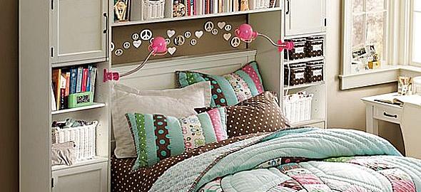 Κοριτσίστικο δωμάτιο: Το κρεβάτι στο επίκεντρο