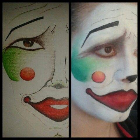 Clown . Face chart