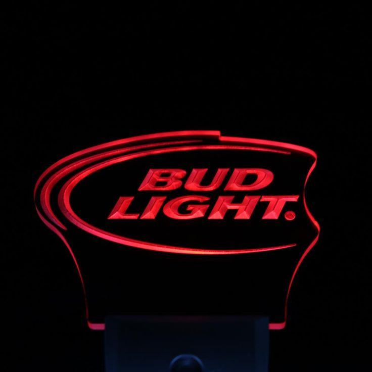 ws0024 Bud Lite Beer Bar Pub Club Logo Day/ Night Sensor Led Night Light Sign