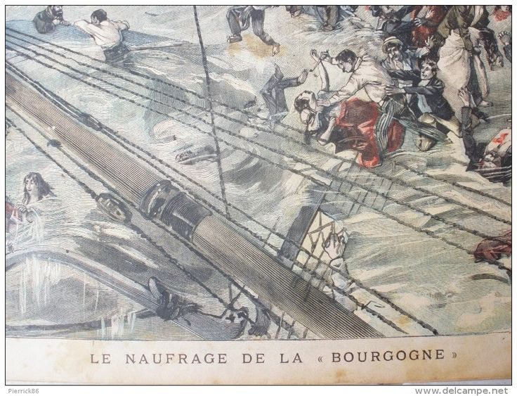1898 SINKING de Borgoña / THE REAL JACK BEE de julio de 14 / LE PETIT MARSEILLE N ° 24