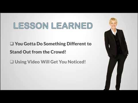 get hired with video video resume success story on the ellen show how a - Video Resume