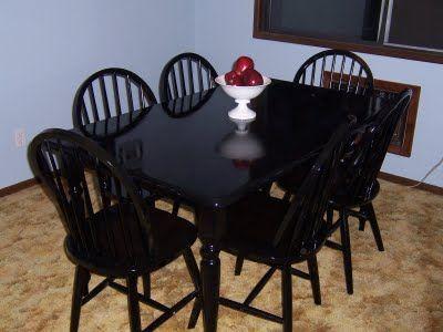 Spray painting dining table