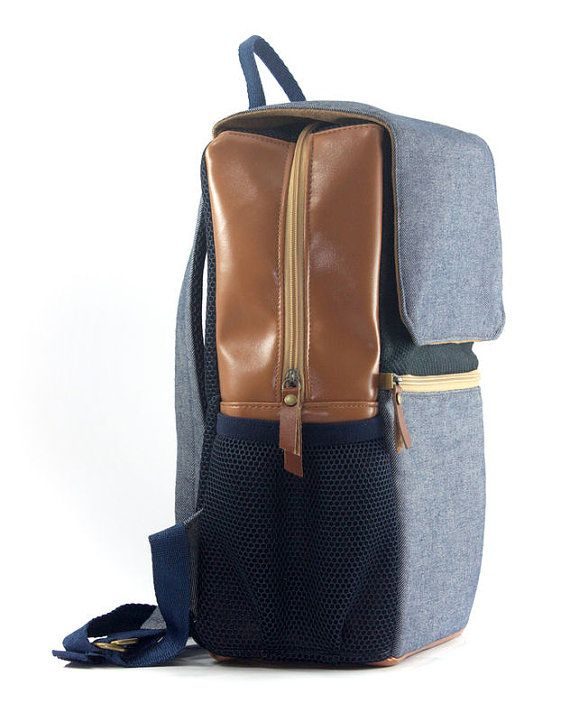Boarding collection: Old is cool backpack in jeans by Fecula