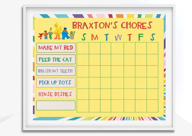 Chore Chart, Printable Chore Chart, Blank Chore Chart, Kids Chore Chart, Chore Chart Print, Reward Chart, Behavior Chart, Chore Charts by PaperLimeDesigns on Etsy