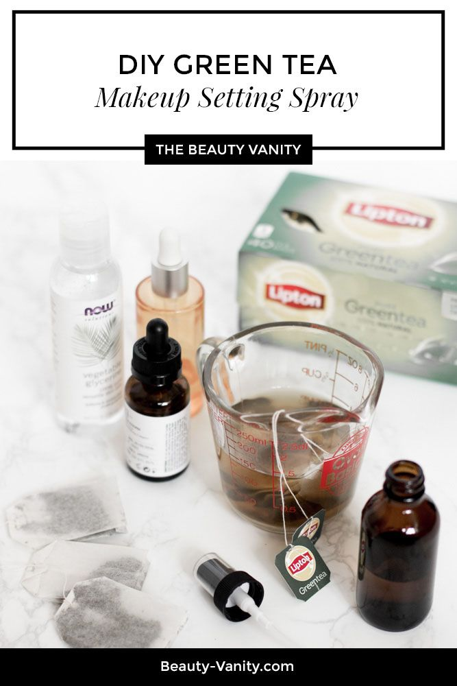 Save money with a DIY Green Tea Acne Makeup Setting Spray on The Beauty Vanity. #ad #FillUpToFeelGood