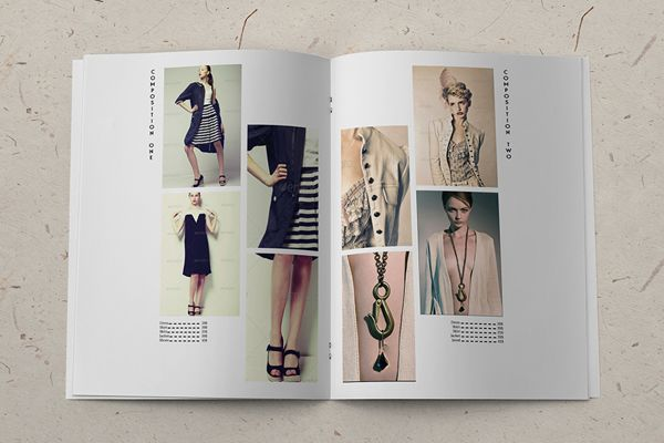 Minimalistic Fashion Catalog Template by Gianluca Carraro, via Behance