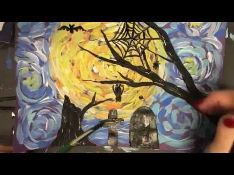 Van Gogh Scary Night with Harvest moon/Sunset - YouTube