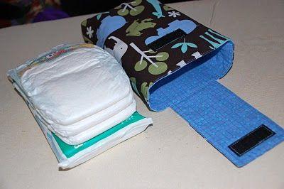 DIY diaper/wipe case