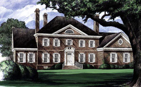 Colonial Plantation House Plan 86207 3 Car Garage The