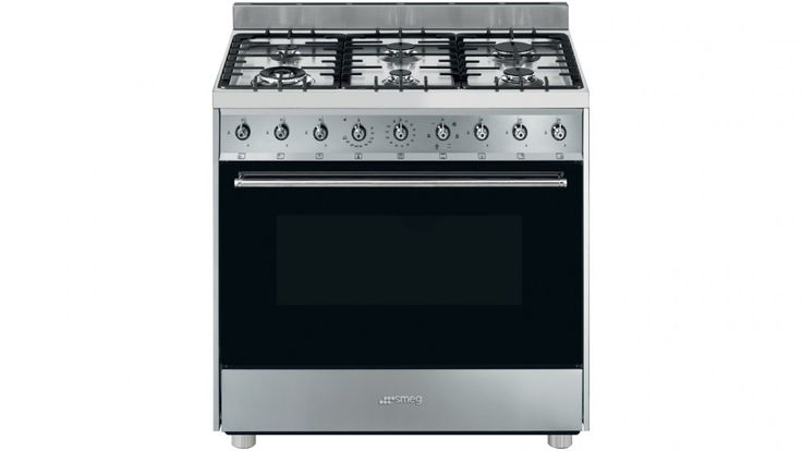 Smeg 90cm Freestanding Cooker with Countdown Timer - Stainless Steel - Freestanding Cookers - Appliances - Kitchen Appliances | Harvey Norman Australia