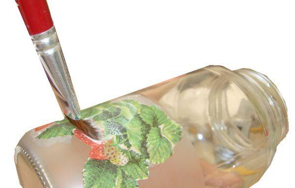 decoupage em pote de vidro - dicas