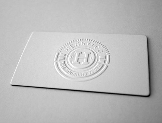Gaufrage / Embossed business card