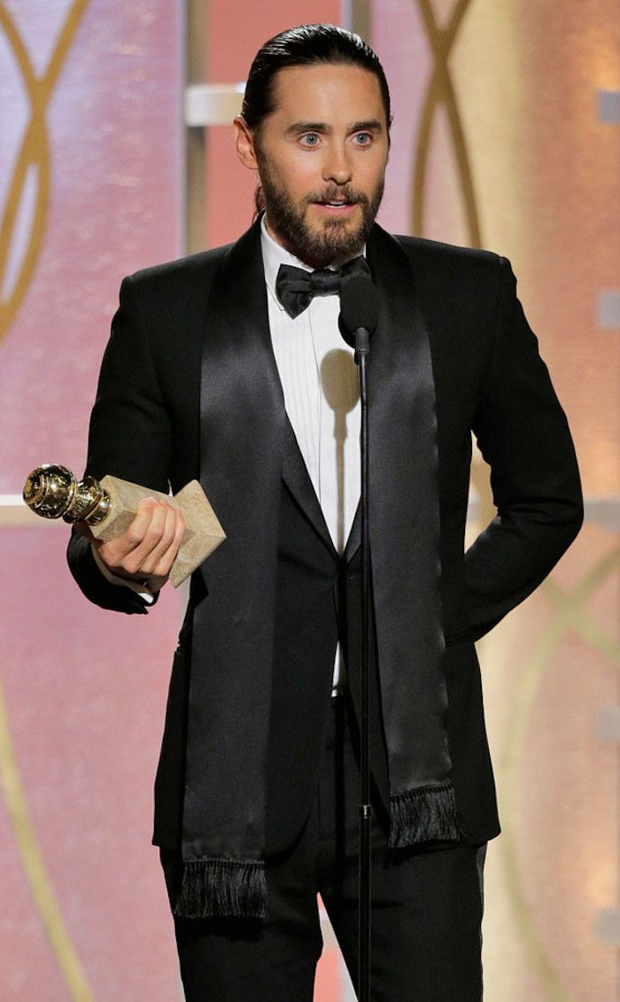 nerd-utopia:  Best Supporting Actor, Motion Picture: Jared Leto, Dallas Buyers Club (Photo By:Paul Drinkwater/NBC)