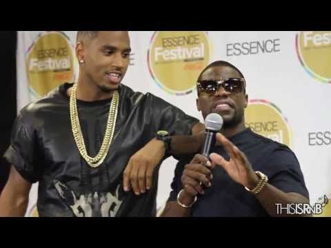 Trey Songz Brings Out Kevin Hart & James Harden Backstage at Essence Fes...
