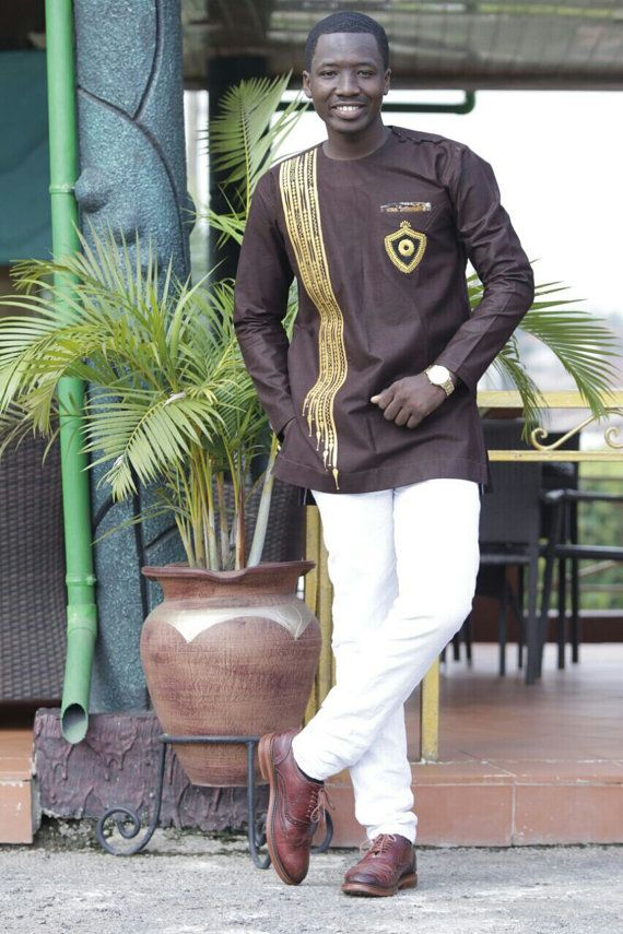 Men's African Fashion Wear with Embroidery by NayaasDesigns