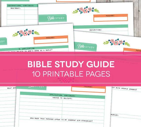 Bible Study Guide Printables, Inductive Scripture Devotional Study, Quiet Time…