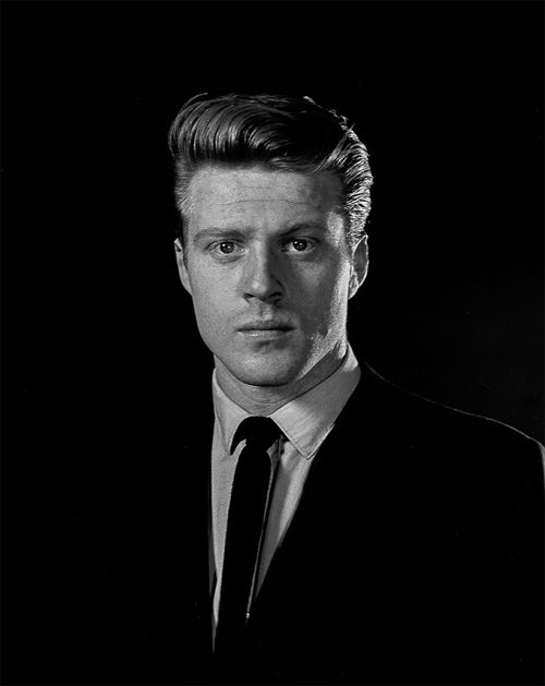 """Robert Redford, 1959-around the time he made an appearance as an unscary Angel of Death on """"The Twilight Zone"""""""