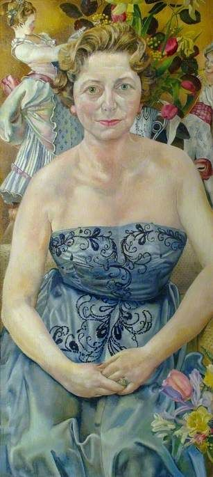 Stanley Spencer (England 1891–1959), Mrs Marjorie Metz, oil/canvas, 1958. Collection Stanley Spencer Gallery, Cookham, England.