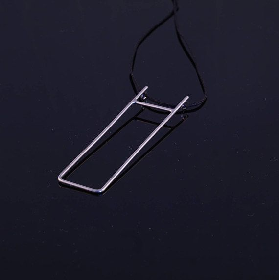 Everyday necklace silver minimal necklace geometric necklace