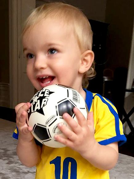 Baby Olympian! Prince Nicolas Adorably Supports the Home Team Ahead of Sweden's Gold Medal Soccer Game http://www.people.com/people/package/article/0,,20395222_21025427,00.html