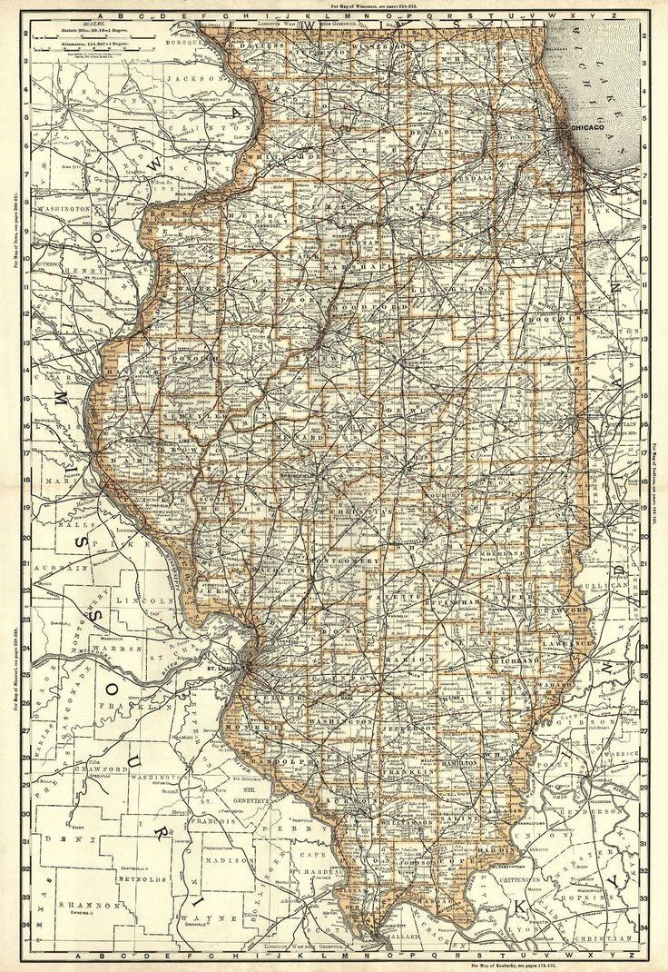 Best Illinois Images On Pinterest Globes Illinois And Missouri - Map of illinois and missouri