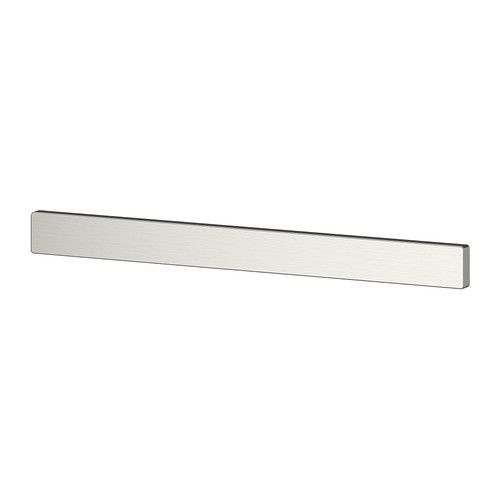 GRUNDTAL Magnetic knife rack - IKEA. what a thing that doesn't look like anything, but we can ditch the knife block in the kitchen