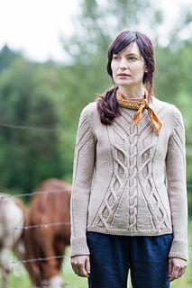 """""""Fieldstone,"""" by Norah Gaughan, knit with Brooklyn Tweed Arbor."""