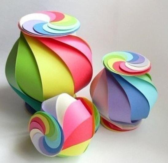 Balão esfera de papel com molde para decorar | Cacareco