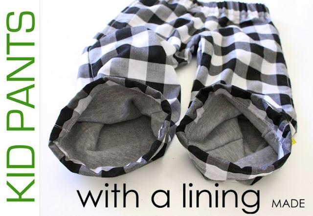 broek met elastieken band en voering (optioneel)